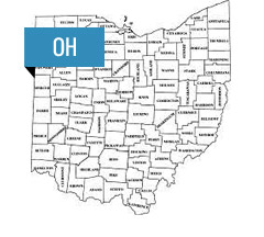 Ohio Gas and Electric Rates Map